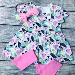 NWT BabyGap 18-24m legging & tunic set + bow